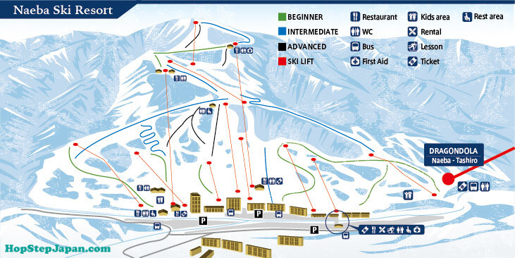 Naeba Ski Resort is great for people on skis or snowboards at an level.