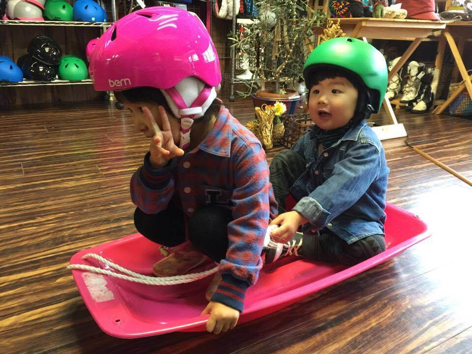 Safety First! Helmets are free for children with other rentals
