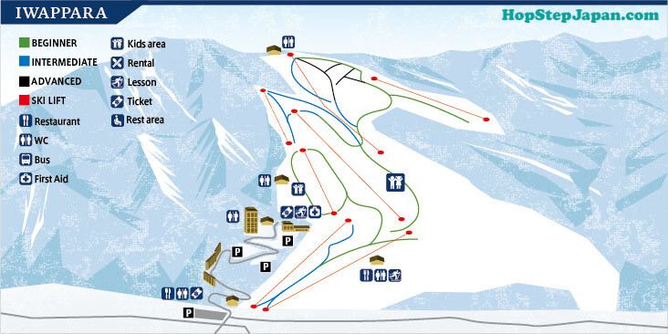 Iwappara Ski Resort is set on the smooth slopes of a beautiful mountain.