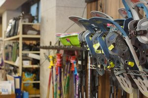 Rent skis, snowboards, snowshoes, or anything else for your day on the slopes.