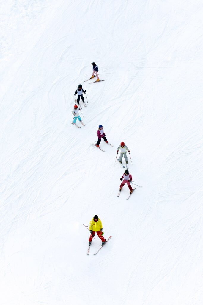 We like to keep our skiing lessons in small groups so you get more individual attention.